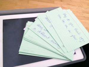 Card Notes on my iPad