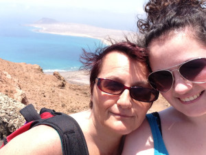 Mummy and me visiting Lanzarote