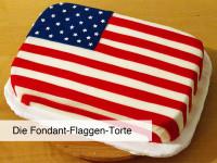 Fondant-Flaggen-Torte