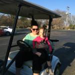 Golf Cart mit Hadley