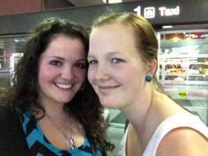 Erstes Bild am Flughafen